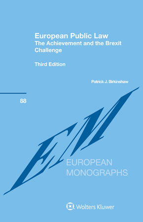 European Public Law: The Achievement and the Brexit Challenge, Third Edition